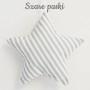 Śliczne zawieszki w kształcie gwiazdek o wielkości 15cm do pokoju dziecka. Szare paski.