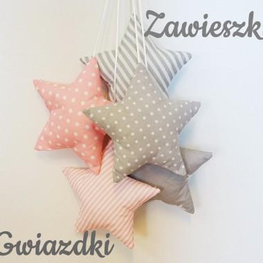Śliczne zawieszki w kształcie gwiazdek o wielkości 15cm do pokoju dziecka. Dolly.