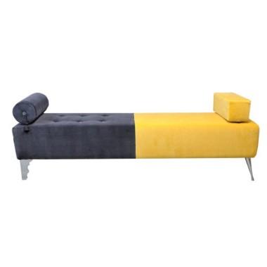 Ławka, ławeczka do nowoczesnego wnętrza-żółto-szara.