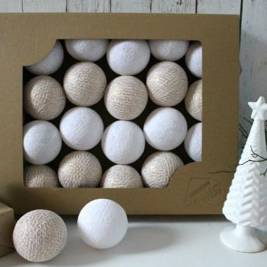 Cotton Balls. Kulki świecące delikatnych kolorach.