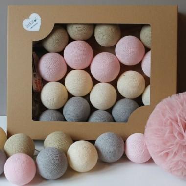 Cotton Balls. Kulki świecące pastelowe.