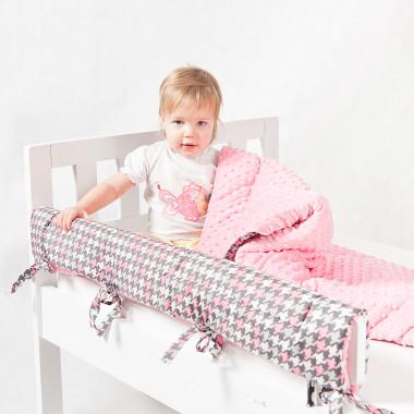 Ochraniacz do łóżeczka/łóżka IKEA - pepitka