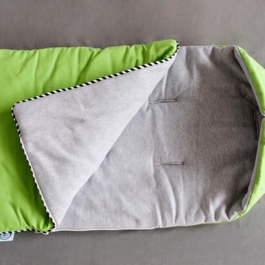 Zimowy śpiworek - zielony