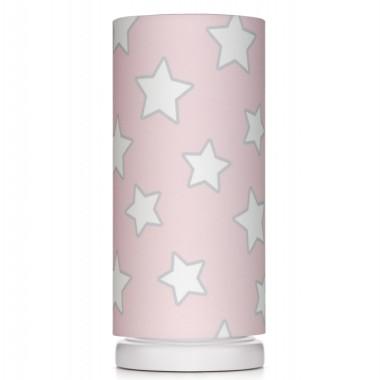 Różowa lampka w białe gwiazdki, do pokoju dziecka. Lamps&Co.