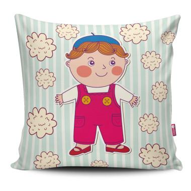 Miękka ozdobna poduszka z kolorowym nadrukiem- dla dziecka
