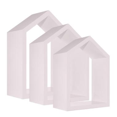 Półki domki różowe do pokoju dziecka-youngdeco
