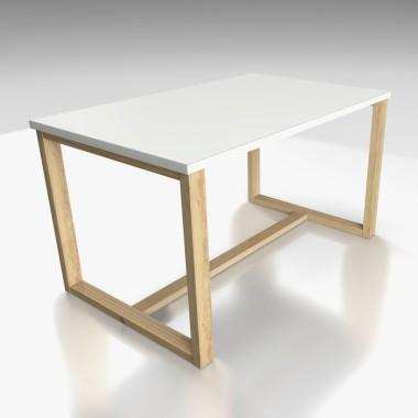 Minimalistyczny i nowoczesny stolik kawowy z białym blatem