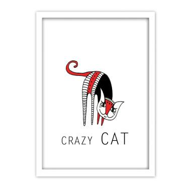 """Plakat z serii """"Crazy cats"""" dla najmłodszych, którzy uwielbiają koty. Plakat idealnie podkreśli i ozdobi dziecięcy pokój."""