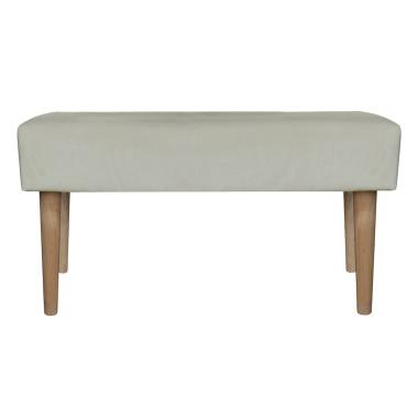 Minimalistyczna ławka w stylu eco. Beżowa