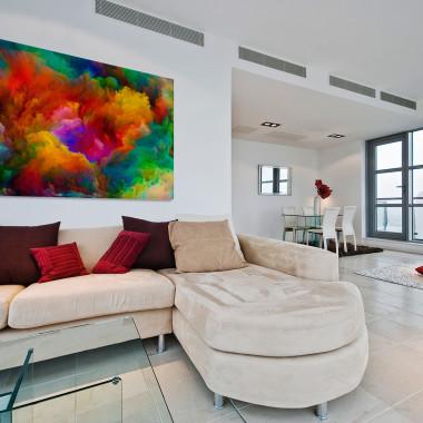 Barwna salwa - nowoczesny obraz na płótnie