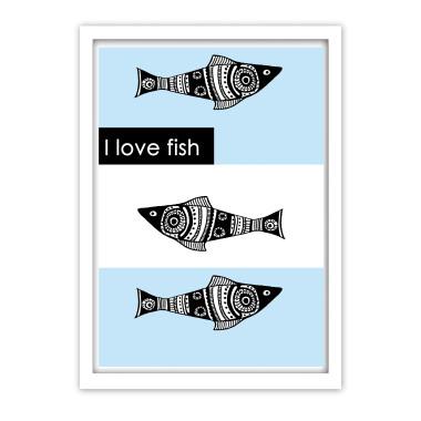 """Plakat """"Fish"""" oryginalny i idealny do dziecięcego pokoju."""