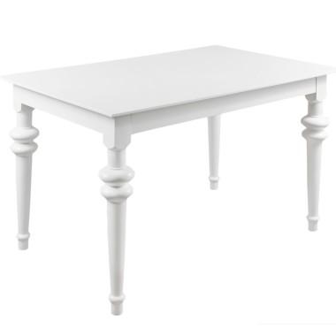 Stół w stylu glamour. Biały lub piaskowy.