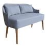 Oryginalna sofka z podłokietnikami inspirowany wzornictwem lat 60-tych. Idealna do salonu, sypialni przedpokoju czy butiku. Sofka w modnych pastelowych kolorach