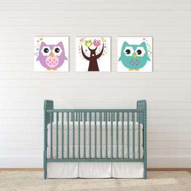 SOWY XXL -- komplet obrazów do pokoju dziecka