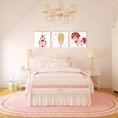 KSIĘŻNICZKA I JEDNOROŻEC XXL -- komplet obrazów do pokoju dziecka