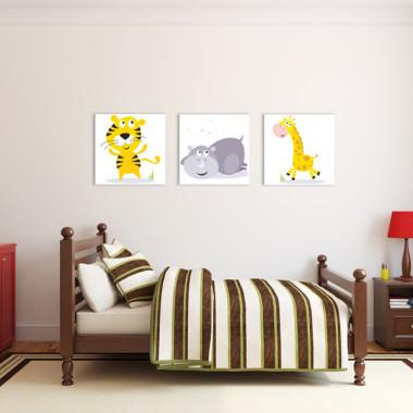 KOLOROWE SAFARI XXL -- komplet obrazów do pokoju dziecka