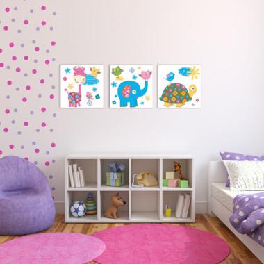 PASTELOVE LOVE XXL -- komplet obrazów do pokoju dziecka