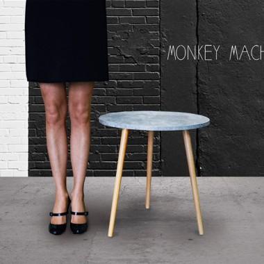 """Minimalistyczny stolik kawowy """"beton"""" w modnym stylu LOFT"""