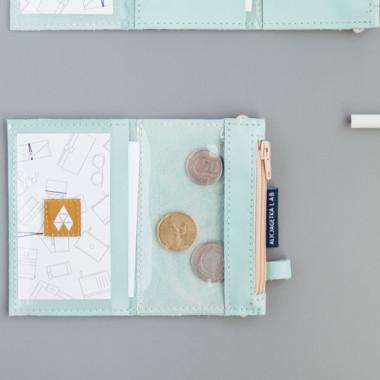 MIKRO / Sky Blue - niebieski portfel ze skóry- idealny na prezent