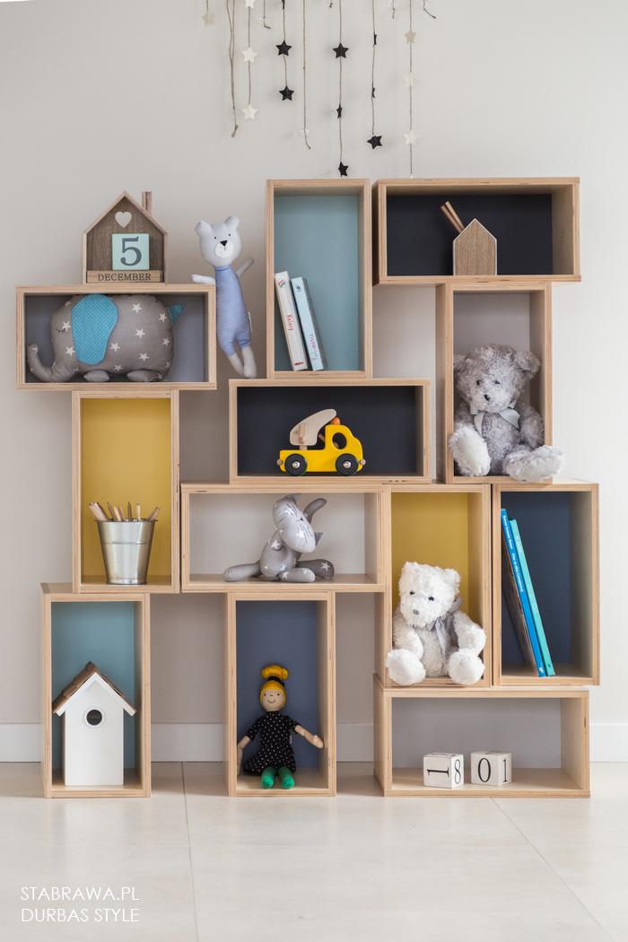 Kolorowy nowoczesny designerski regał na książki, zabawki do pokoju dziecięcego, salony, sypialni czy przedpokoju
