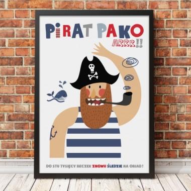 Plakat dla dziecka-Pirat Pako