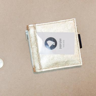 Pocket MIDI / Golden - portfel ze skóry
