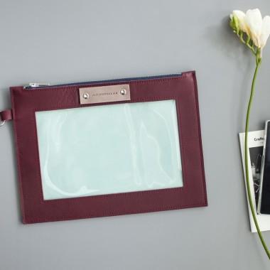 Wielofunkcyjna kopertówka skórzana- przybornik.Skóra naturalna. Idealny pomysł na prezent.