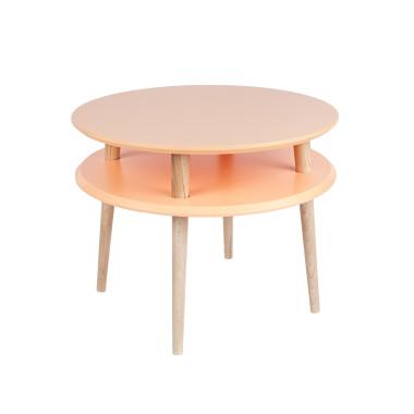 pomarańczowy okrągły stolik kawowy ragaba wysokość 45cm, średnica 57cm