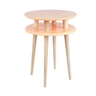 pomarańczowy okrągły stolik kawowy ragaba wysokość 61cm, średnica 45cm