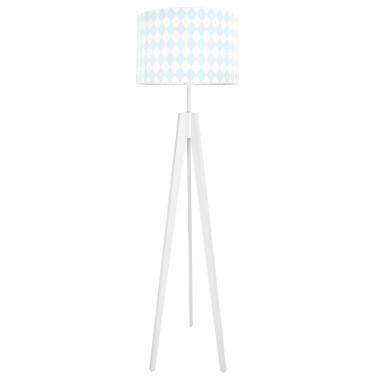 Lampa podłogowa stojąca-trójnóg biały. youngDeco. Romby pastelowe
