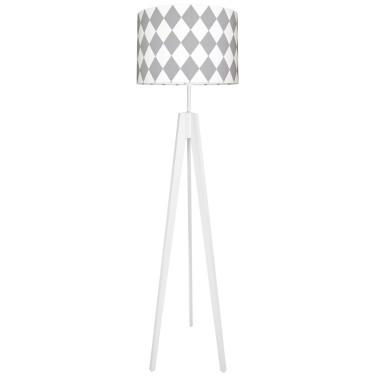 youngDECO lampa podłogowa trójnóg - romby szare