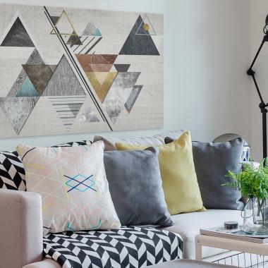 Teoria względności - nowoczesny obraz na płótnie do salonu, jadalni, sypialni lub przedpokoju. Loft, scandi.