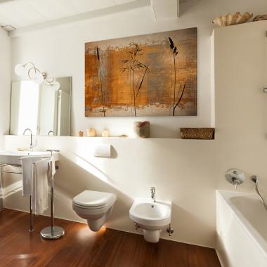 Pokłosie - nowoczesny obraz na płótnie do salonu, jadalni, sypialni lub przedpokoju. Loft, scandi.Vaku.