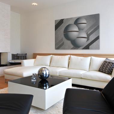 Głos przestrzeni - nowoczesny obraz na płótnie do salonu, jadalni, sypialni lub przedpokoju. Loft, scandi.Vaku.
