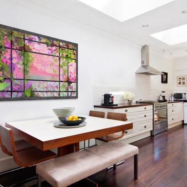 Wiszące ogrody - nowoczesny obraz na płótnie do salonu, jadalni, sypialni lub przedpokoju. Loft, scandi.Vaku.