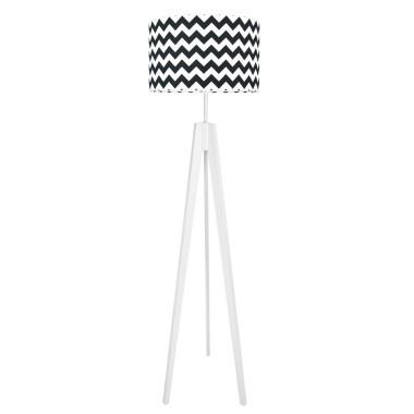 youngDECO lampa podłogowa trójnóg - czarny chevron