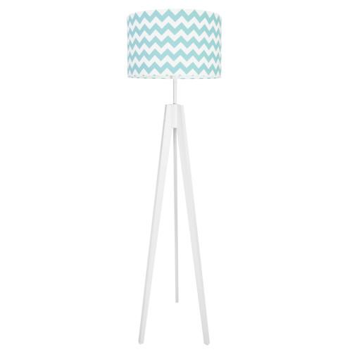 youngDECO lampa podłogowa trójnóg - turkusowy chevron