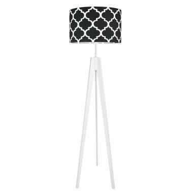 youngDECO lampa podłogowa trójnóg - marokańska koniczyna - czarna