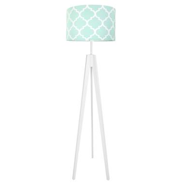 Lampa podłogowa stojąca-trójnóg bialy. youngDeco.Koniczyna marokańska miętowa