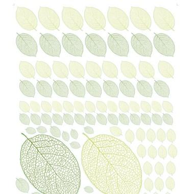 Naklejki na ścianę do pokoju dziecka- Naklejki Leaf arkusz z liśćmi