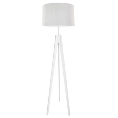 Lampa podłogowa stojąca-trójnóg. youngDeco. Kropeczki na szarym