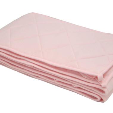 Ochraniacz pikowany na łóżeczko - róż