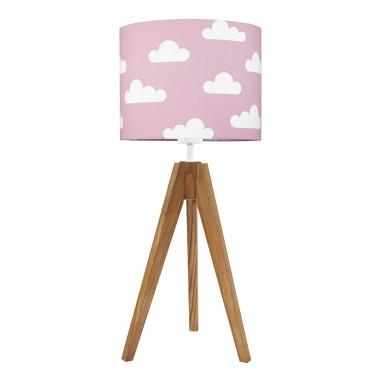 Lampa na stolik Chmurki na różowym