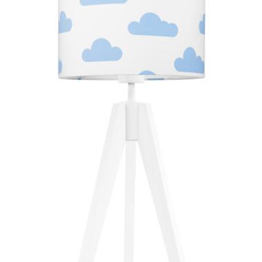 youngDECO lampa na stolik trójnóg chmurki błękitne