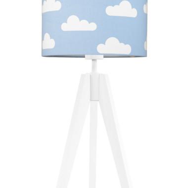 youngDECO lampa na stolik trójnóg chmurki na błękitnym