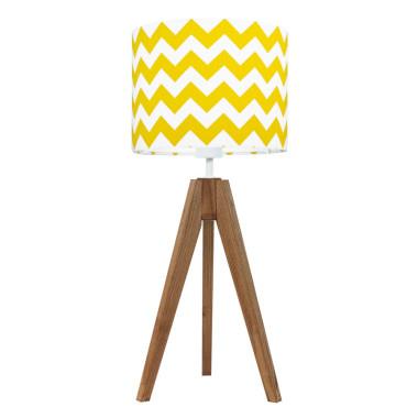 YoungDeco.Lampka na stolik. Chevron żółty