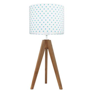 Lampa na stolik Grochy turkusowe