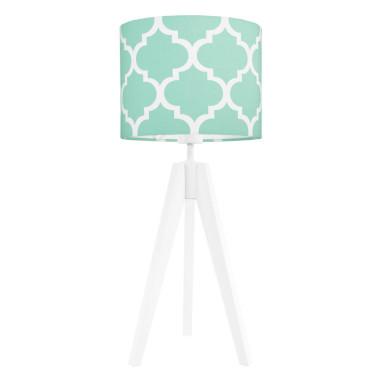 youngDECO lampa na stolik trójnóg koniczyna marokańska miętowa