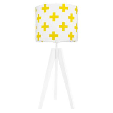 youngDECO lampa na stolik trójnóg krzyżyki żółte