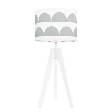 youngDECO lampa na stolik trójnóg półksiężyce szare
